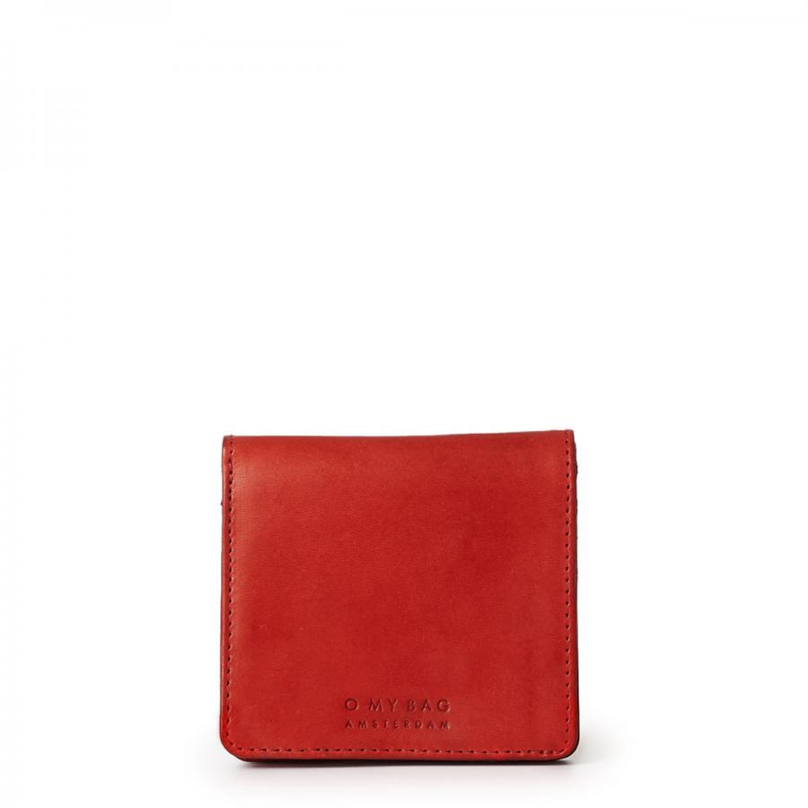 Alex Fold-Over Wallet Red Classic Leather - kožená peňaženka