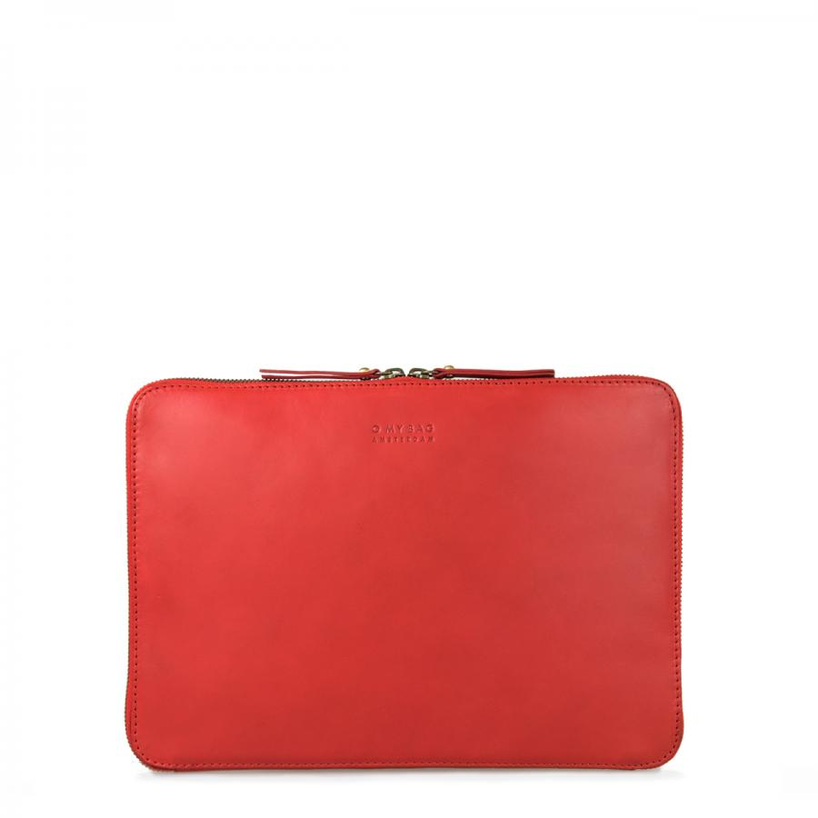 Zipper Laptop Sleeve 13´´ Red Classic Leather - kožený obal na notebook