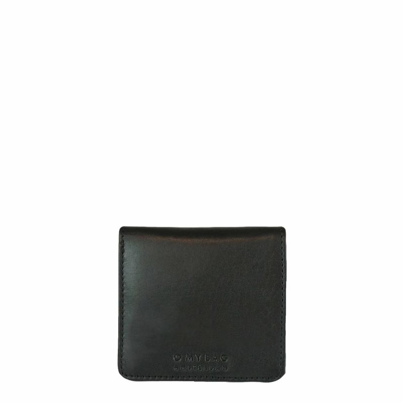 Alex Fold-Over Wallet Black Classic Leather - kožená peňaženka