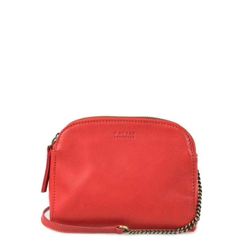Emily Red Classic Leather - kožená crossbody kabelka