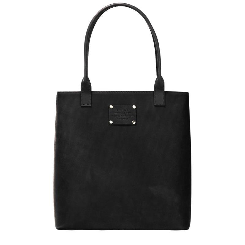 Posh Stacey Midi Black Hunter Leather - tote kabelka