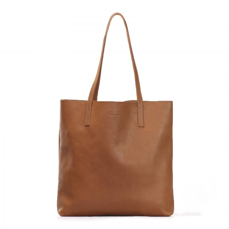 Georgia Wild Oak Soft Grain Leather - kožená shopper kabelka
