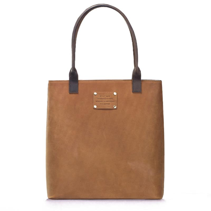 Posh Stacey Midi Camel Hunter Leather - tote kabelka