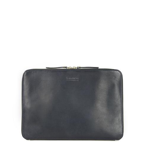 Zipper Laptop Sleeve 13´´ Black Classic Leather - kožený obal na notebook