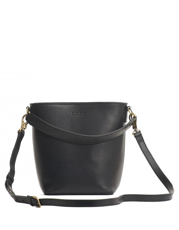 Bobbi Bucket Bag Black Classic Leather - kožená kabelka