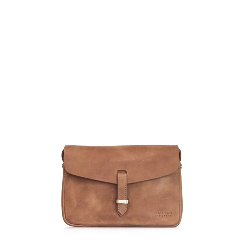 Ally Bag Midi Camel Hunter Leather - crossbody kožená kabelka