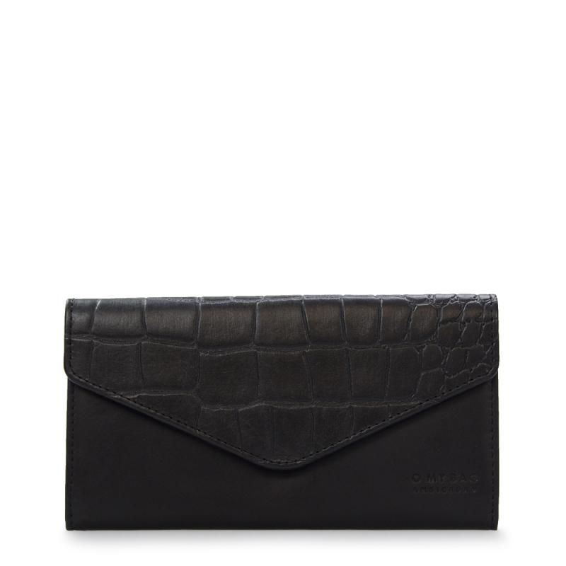 Envelope Pixie Black Classic/Croco Classic Leather - kožená peňaženka