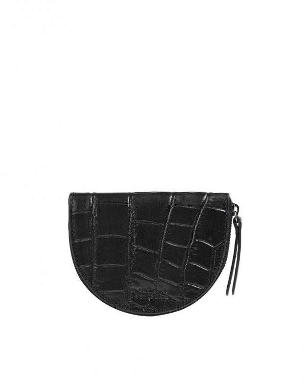 Laura´s Purse Black Croco Classic Leather - kožená peňaženka na mince