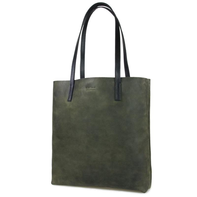 Georgia Green Hunter Leather - kožená shopper kabelka