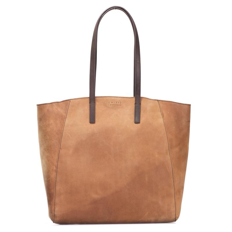 Jazzy Jess Camel Hunter Leather - kožená shopper kabelka