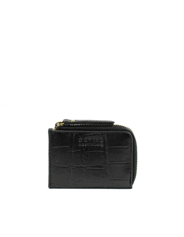 Coco Coin Purse Black Classic Croco Leather - kožená peňaženka na mince