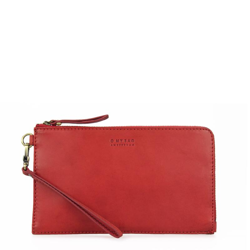 Travel Pouch Red Classic Leather - cestovná peňaženka